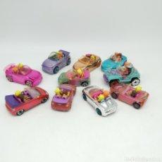 Muñecas Modernas: GRAN LOTE POLLY POCKET, 20 MUÑECAS CON 10 COCHES. MATTEL, AÑOS 2006 Y 2007.. Lote 219508053