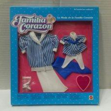 Muñecas Modernas: FAMILIA CORAZÓN. VESTIDO MARITIM. NUEVO EN CAJA. MATTEL. 1986. REF 9594. LA MODA DE LA FAMILIA.. Lote 225909285