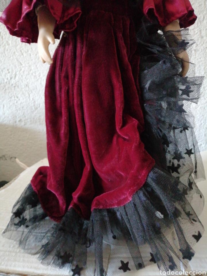 Muñecas Modernas: Muñeca en vestído de terciopelo - Foto 3 - 232921845