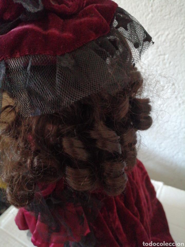 Muñecas Modernas: Muñeca en vestído de terciopelo - Foto 6 - 232921845