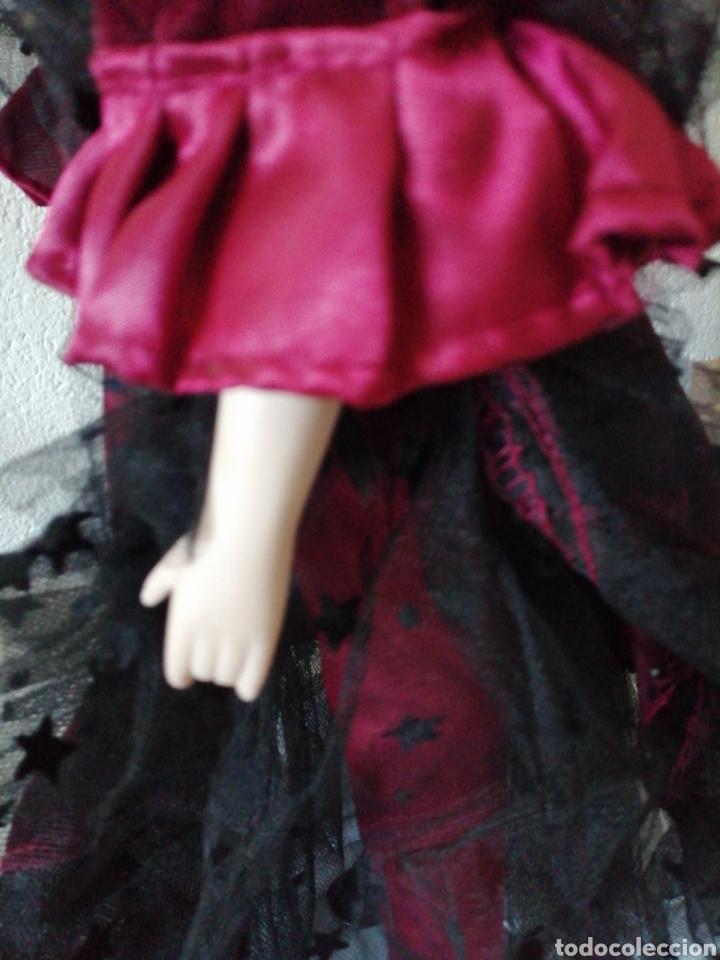 Muñecas Modernas: Muñeca en vestído de terciopelo - Foto 7 - 232921845