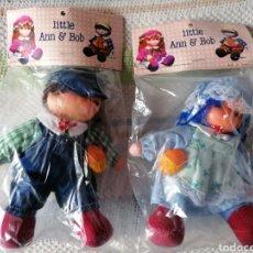 Muñecas Modernas: MUÑECA MUÑECO 2 DE LITTLE ANN & BOB. ICE CREAM DOLLS. MUÑECAS DE TRAPO Y GOMA DE HELADO. AÑOS 80. Lote 235298480