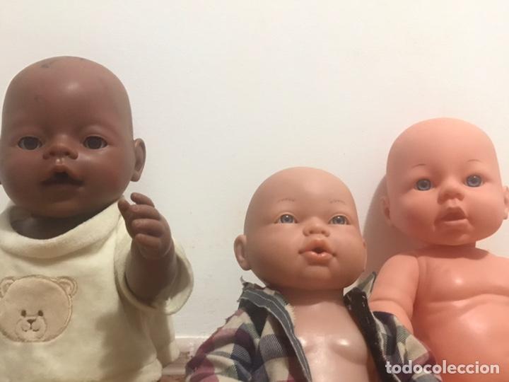 Muñecas Modernas: LOTE PACK DE 3 MUÑECOS BEBE BABY BORN NENUCO JUGUETES NIÑOS - Foto 3 - 173819117