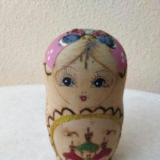 Muñecas Modernas: MATRIOSKA DE MADERA ( 5 PIEZAS ) 12 CM. Lote 236837745