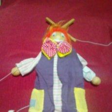 Muñecas Modernas: MARIONETA PAYASO DE 40 CM. Lote 240677760
