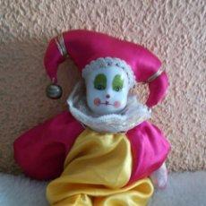 Muñecas Modernas: GASTOS:8€.PAYASO DE TELA Y PORCELANA RETRO & VINTAGE. Lote 241723455