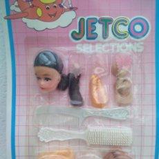 Muñecas Modernas: BLISTER JETCO AÑOS 80 CON ACCESORIOS MUÑECAS. Lote 242983485