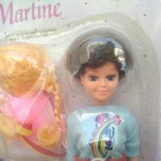 Muñecas Modernas: BLISTER AÑOS 80 MUÑECA DE MARTINE CON ACCESORIOS. Lote 246087575