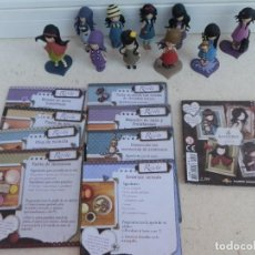 Muñecas Modernas: LOTE DE 10 MUÑEQUITAS GORJUSS DE SANTORO LONDON. + CUATRO PEANAS. MIDE CADA UNA 6 CM.. Lote 252977995