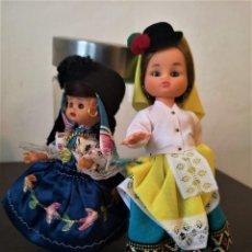Muñecas Modernas: MUÑECAS TRAJES TIPICOS SUDAMERICANOS CON FALDA POLLERA OJOS DURMIENTES. Lote 253680540