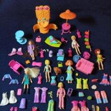 Muñecas Modernas: LOTE DE MUÑECAS POLLY POCKET CON MUCHAS MUÑECAS Y COMPLEMENTOS Nº1. Lote 253905985