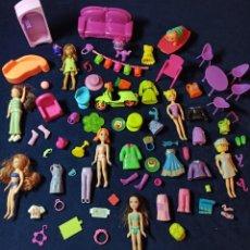 Muñecas Modernas: LOTE DE MUÑECAS POLLY POCKET CON MUCHAS MUÑECAS Y COMPLEMENTOS Nº4. Lote 253906440