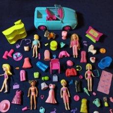 Muñecas Modernas: LOTE DE MUÑECAS POLLY POCKET CON MUCHAS MUÑECAS Y COMPLEMENTOS Nº5. Lote 253906585