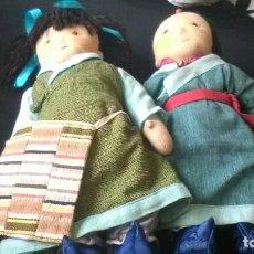 Muñecas Modernas: PAREJA MUÑECAS ARTESANALES. Lote 262576410