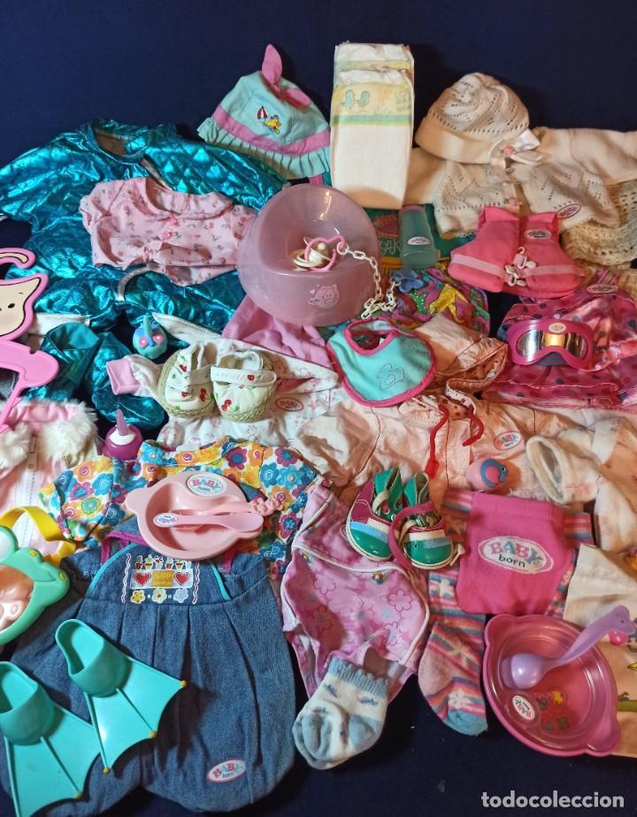 Muñecas Modernas: Lote de muñeco Baby Born con casi todo original. - Foto 2 - 263000530
