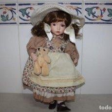 Muñecas Modernas: ANTIGUA MUÑECA DE PORCELANA DE LOS AÑOS 80.. Lote 265409744