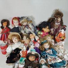 Muñecas Modernas: LOTE 16 MUÑECAS AÑOS 90-ETNICAS SURTIDO PORCELANA...ECT. Lote 266503023