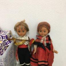 Muñecas Modernas: PAREJA DE GAITEIROS MUÑEIRA GALICIA, MUÑECOS. Lote 278955908