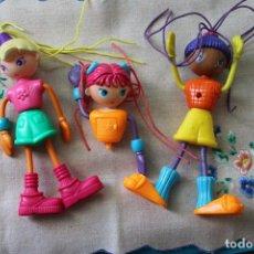 Muñecas Modernas: 3 MUÑECAS PEQUENITAS ESPAGUETIS. Lote 283401048