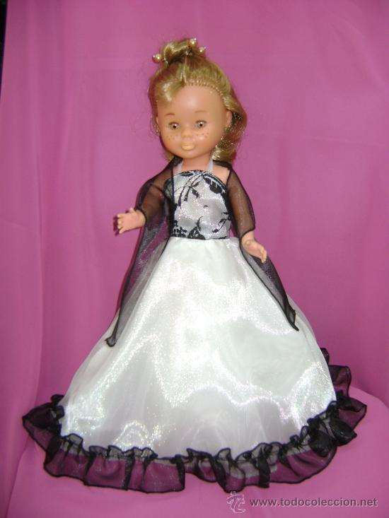 vestido de fiesta para nancy, blanco y negro. - Comprar Vestidos y ...