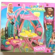 Muñecas Nancy y Lucas: 1999 VINTAGE (FAMOSA): NANCY Y CAMPING DE MONTAÑA / NUEVA EN CAJA - NEW - NUEVO - DE ALMACÉN. Lote 26263232