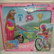 Muñecas Nancy y Lucas: NANCY MODEL,MOUNTAIN BIKE,FAMOSA,CAJA ORIGINAL,A ESTRENAR. Lote 26495700