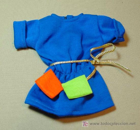 Vestido azul dorado original
