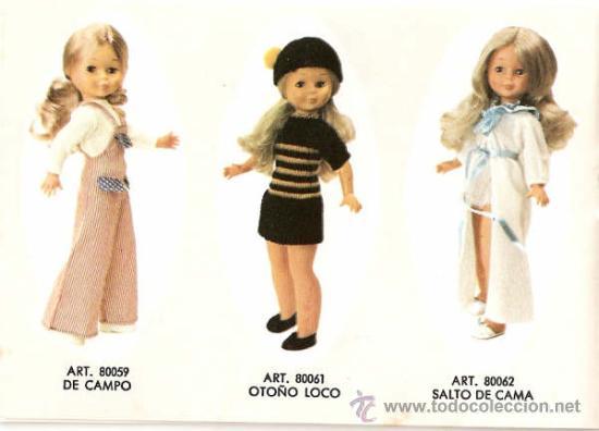 Muñecas Nancy y Lucas: Nancy rubia pelo a capas con flequillo con conjunto otoño loco - Foto 3 - 128586527