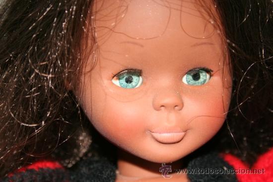 Muñecas Nancy y Lucas: antigua muñeca nancy negrita o negra años 70 articulada en buen estado - Foto 2 - 38458403