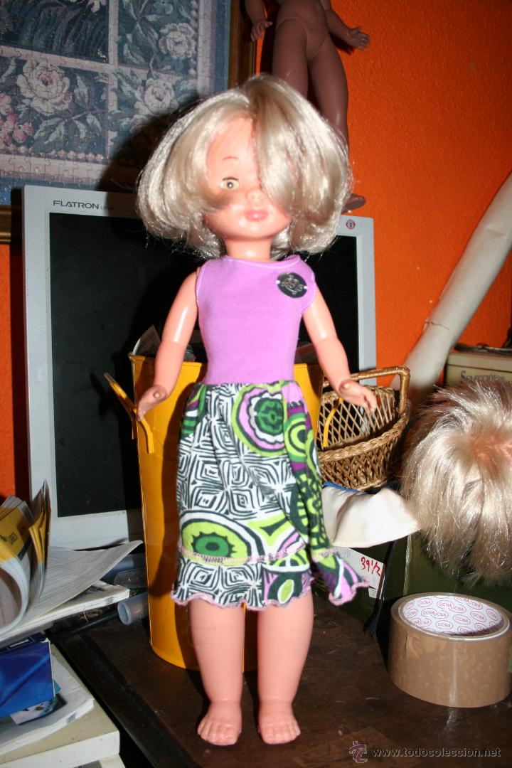 Muñecas Nancy y Lucas: antigua nancy patabollo o pierna gordita carita porcelana - Foto 6 - 45668569