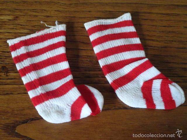 203b5effe7 Calcetines rayas rojas y blancas de nancy (famo - Vendido en Venta ...