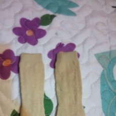 Muñecas Nancy y Lucas: CALCETINES LARGOS BEIGE CON DISEÑOS RELIEVE NANCY. Lote 61511955
