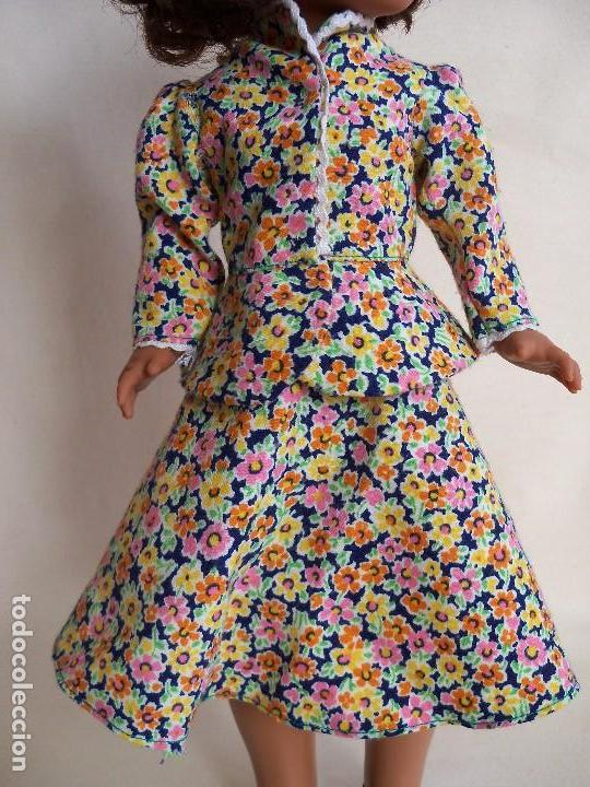 NANCY TRAJE CHAQUETA. CONJUNTO ORIGINAL DE FAMOSA. AÑOS 70 (Juguetes - Muñeca Española Moderna - Nancy y Lucas, Vestidos y Accesorios)