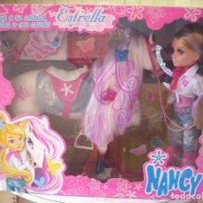 Muñecas Nancy y Lucas: NANCY Y SU CABALLO, NUEVA EN CAJA, SIN ABRIR, AÑO 2.007. Lote 295421538