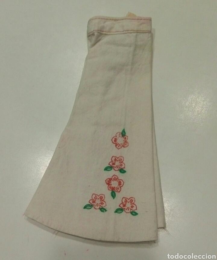 Muñecas Nancy y Lucas: Conjunto Hippy camisa azul pantalon campana blanco flores original Nancy - Foto 4 - 87631696