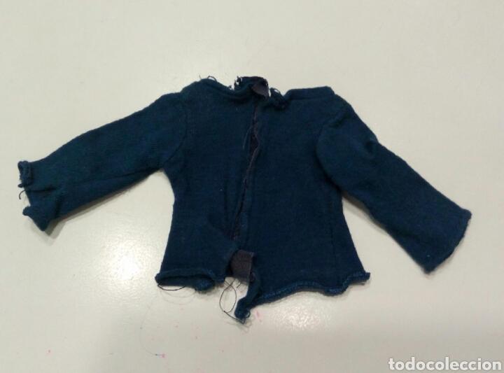 Muñecas Nancy y Lucas: Conjunto Hippy camisa azul pantalon campana blanco flores original Nancy - Foto 5 - 87631696