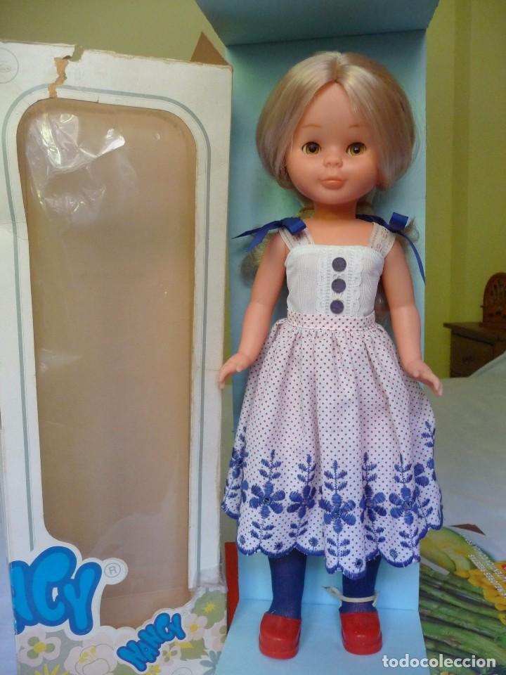 Muñecas Nancy y Lucas: Nancy de famosa rubia ojos marron margarita con dificil conjunto años 80 nueva en caja - Foto 5 - 95772583