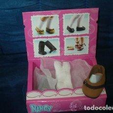 Muñecas Nancy y Lucas: NANCY ZAPATOS NOBUK + CALCETINES, NUEVOS EN CAJA. Lote 100129626
