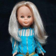 Muñecas Nancy y Lucas: NANCY ORIGINAL MAQUILLAJE. 1984. PECULIARIDAD TRAJE CINTA DORADA. OJOS MIEL. RUBIA.. Lote 104557672