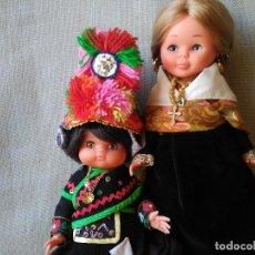 Muñecas Nancy y Lucas: NANCY Y MUÑECA CON TRAJE DE MONTEHERMOSO - PAREJA DE MUÑECAS REGIONALES EXTREMEÑAS COLECCIÓN AÑOS 70. Lote 104880215
