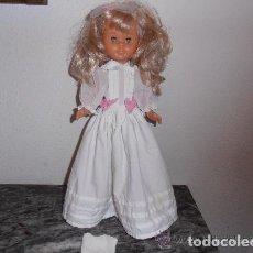 Muñecas Nancy y Lucas: VESTIDO BLANCO FAMOSA, MADE IN SPAIN. Lote 109404591