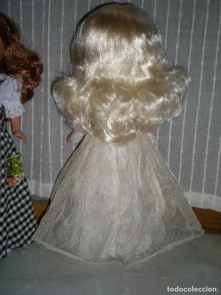 Muñecas Nancy y Lucas: nancy nueva sin uso+ conjunto esperando al principe flores azules tul reflejos dorados año 70 ref 53 - Foto 5 - 116990931
