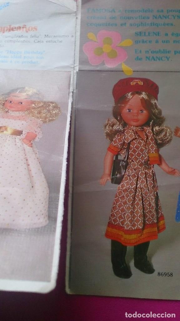 Muñecas Nancy y Lucas: Hoja desplegable catálogo Conoce a tus nuevas Nancy Famosa - Foto 4 - 122865023