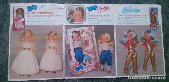 Muñecas Nancy y Lucas: Hoja desplegable catálogo Conoce a tus nuevas Nancy Famosa - Foto 5 - 122865023
