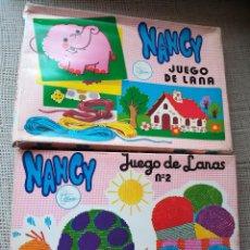 Muñecas Nancy y Lucas: MUÑECA NANCY RARAS CAJAS DE JUEGO DE LANAS NÚMERO 1 Y 2. Lote 129978871