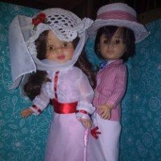 Muñecas Nancy y Lucas: NANCY ARTICULADA CASTAÑA Y LUCAS DE LOS 70 CUSTOMIZADOS COMO BERT Y MARY POPPINS. Lote 133079818