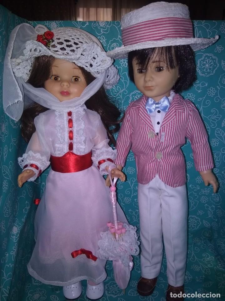Muñecas Nancy y Lucas: Nancy articulada castaña y lucas de los 70 customizados como bert y mary poppins - Foto 2 - 133079818