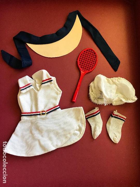 CONJUNTO TENIS NANCY FAMOSA AÑOS 70 COMPLETO (Juguetes - Muñeca Española Moderna - Nancy y Lucas, Vestidos y Accesorios)