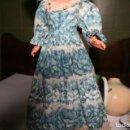 Muñecas Nancy y Lucas: VESTIDO ORIGINAL NOSTALGIA EN AZUL MUÑECA NANCY . Lote 135616166