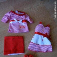 Muñecas Nancy y Lucas: NANCY NEW - 2 CONJUNTOS ROJOS. Lote 136034966